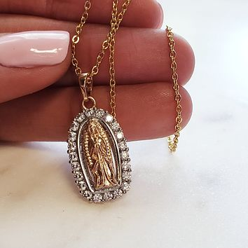 Vintage Holy Mary Necklace