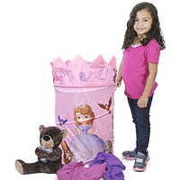 Disney Sofia The First Collapsible Hamper with Retractable Cover