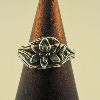Silver Orchid Ring