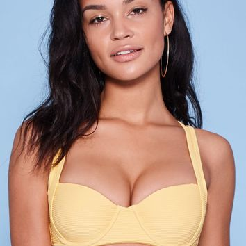 LA Hearts Sydney Ribbed Push-Up Bikini Top at PacSun.com