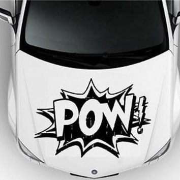 Hood Auto Car Vinyl Decal Stickers Abstract Pow! Comics Book S3211