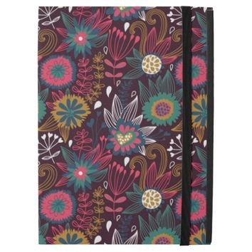 Colorful Modern Floral Pattern iPad Pro Case