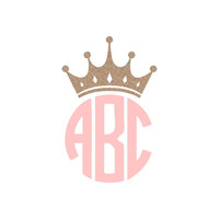 Crown Monogram Decal Sticker