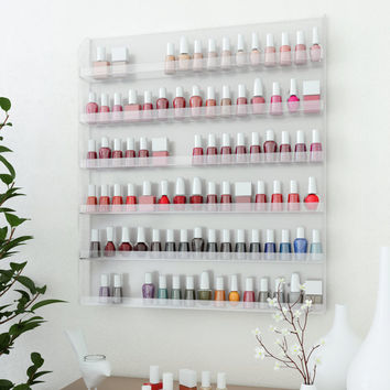 Wall Rack Organizer Holds up to 96 Bottles of Nail Polish