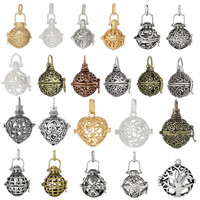 Bola Gift For Pregnant Mother Music Ball Hollow Openable Cage Locket Pendant DIY Necklace Star Tree Bola Fit Sound Ball Inside