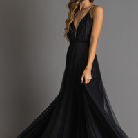 Alessia Black Tulle Maxi Dress