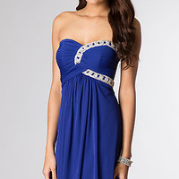 Knee Length Strapless Sweetheart Dress