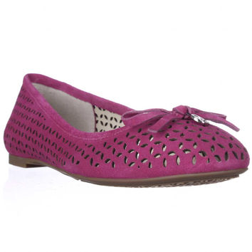 MICHAEL Michael Kors Olivia Perforated Ballet Flats - Fuschia