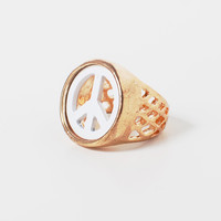 Love & Peace Signet Ring | HOTTT.COM