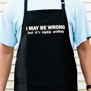 I May Be Wrong Apron