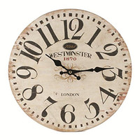 Hotel Westminster English Vintage Wall Clock 1870 Reproduction - 13-in
