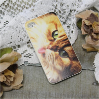 Iphone 4 case, Cell phone cover, Iphone cases, cell phone accessory, Iphone 4,  KITTY CAT