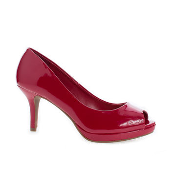 Walter Lipstick Patent By City Classified, Peep Toe Extra Comfort Insole Stiletto Heel Classic Pumps