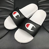 Champion Popular Unisex  Leisure Logo Print Sports Casual Slippers Sandals I