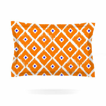 "Nick Atkinson ""The Lucky One"" Orange Navy Pillow Sham"