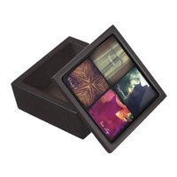 Four Photo Instagram Jewelry Box, Black Premium Jewelry Boxes from Zazzle.com