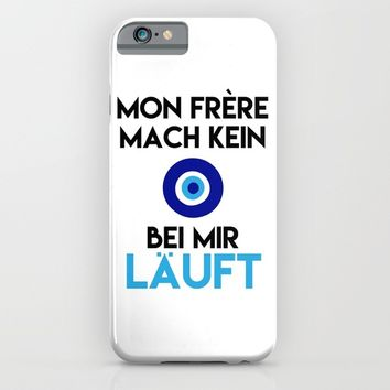 MON FRERE MACH KEIN AUGE BEI MIR LÄUFT iPhone & iPod Case by deificus Art