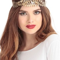 Gold Fall Head Band
