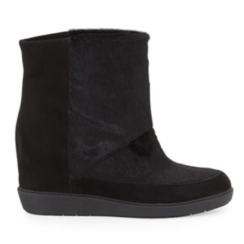 Vince Holly Calf Hair Slip On Wedge Bootie