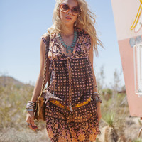 Desert Rose Boho Dress - Raven