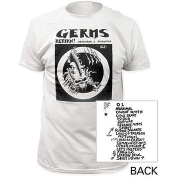 Germs Return! Fitted Jersey Tee Shirt