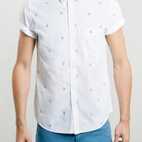White Anchor Motif Shirt - Men's Shirts - Clothing - TOPMAN USA