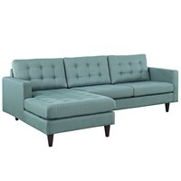 Empress Left-Facing Upholstered Fabric Sectional Sofa Laguna EEI-1666-LAG