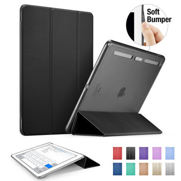 ESR Soft TPU Corner Translucent Hybrid Back Cover Auto Wake Smart Cover Case for iPad Pro 12.9""