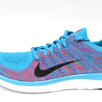 Nike Men's Free 4.0 Flyknit Blue Lagoon/Black Running Shoes 631053 403