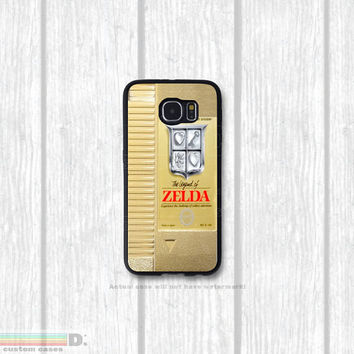 Gold NES Legend of Zelda Cartridge, Custom Phone Case for Galaxy S4, S5, S6