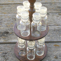Vintage Spice Rack Carousel and Jars Made in Japan