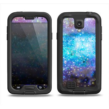 The Glowing Space Texture Samsung Galaxy S4 LifeProof Fre Case Skin Set