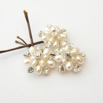 Weddings Hair Pearl Accessories Ivory by jewellerymadebyme on Etsy