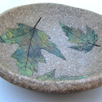 Maple Leaf Pottery Bowl