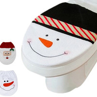 Christmas Toilet Lid Cover Christmas Decoration - 3 Styles