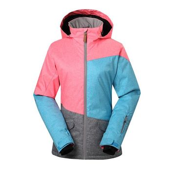 New skiing jacket women outdoor winter snowboard ski wear mountaineering ski clothing keep warm colorful patchwork hiking