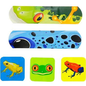 [Frog] 20-Count First Aid Dressings Waterproof Band Aid Cute Adhesive Bandages