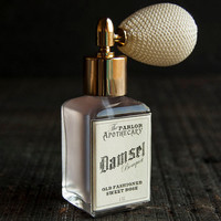 Damsel Bouquet - Rose Perfume - Old Fashioned Sweet Rose Vanilla- Atomizer Bottle -1 oz