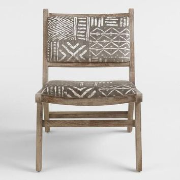 Brown and Ivory Safari Jacquard Gunnar Chair