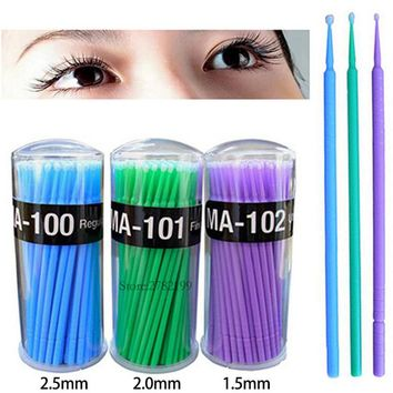 300Pcs/Pack Disposable Makeup Brushes Individual Lash Removing Tools Swab Micro brushes Eyelash Extension Tools