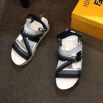 DCCK FENDI   Fashion Men Casual Running Sport Shoes Sneakers Slipper Sandals