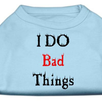 I Do Bad Things Screen Print Shirts Baby Blue XXL (18)