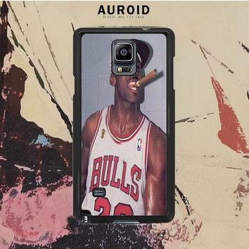 Michael Jordan Cigar Samsung Galaxy Note 3 Case Auroid