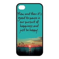 First Design Funny Quotes On Images RUBBER iphone 4 4s Durable Case