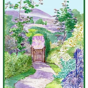 The Garden in Lakefield Cornwall inspired by Beatrix Potter Counted Cross Stitch or Counted Needlepoint Pattern