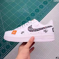 NIKE AIR FORCE 2019 new high quality men's and women's casual wild white shoes #1