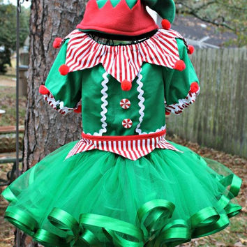 Girls Christmas Elf Santas Helper Set Pageant OOC Casual Holiday Theme Wear