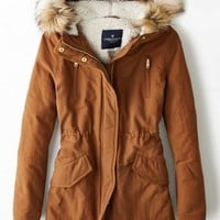 AEO Women's Hooded Parka (Tobacco)