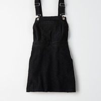 Don't Ask Why Cord Overall Skirt, Black