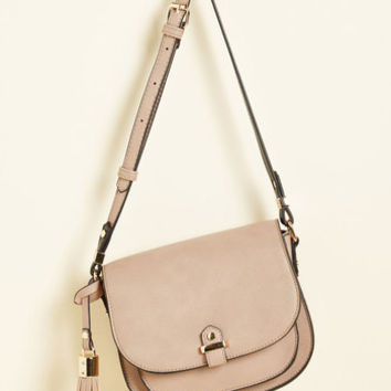 Tassel in Air Bag in Taupe | Mod Retro Vintage Bags | ModCloth.com